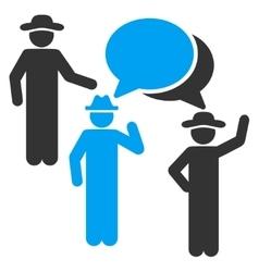 Gentlemen Discussion Icon vector image