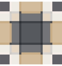 Geometric sand tile plaid vintage seamless pattern vector
