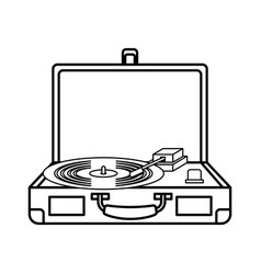 old record player vinyl record vector image