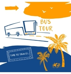 Poster for the travel and tourism resort Logo for vector image