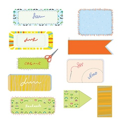Sewing and needlwork set for handmade vector image vector image
