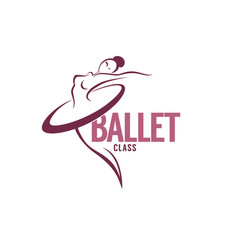 silhouette of beauty ballet dancer logo template vector image