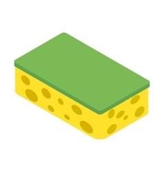 Sponge isometric 3d icon vector image