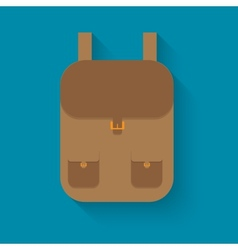 backpack in style flat vector image