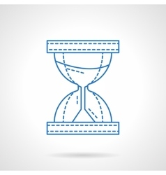 Flat blue line hourglass icon vector image vector image