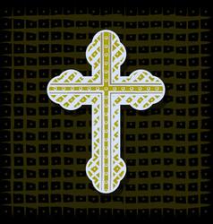 orthodox cross - background vector image
