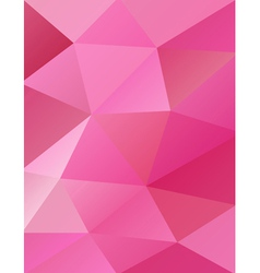 Pink Abstract Triangles vector image vector image