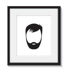 beard man in a frame vector image vector image