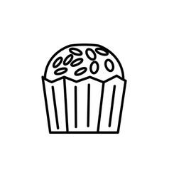 cupcake icon vector image