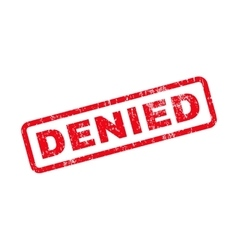 Denied Text Rubber Stamp vector image