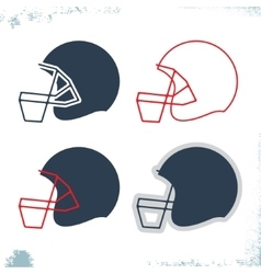 Football helmet icon vector image vector image