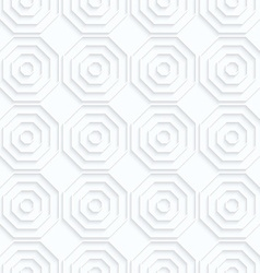 Quilling paper octagons with offset in row vector image vector image