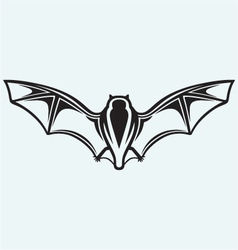 Silhouette of bat vector image vector image