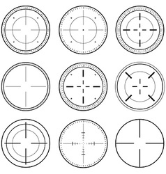Sniper Scope Target Ink Set vector image