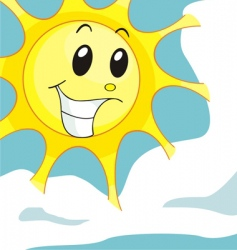 sunny smile vector image