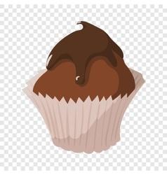 Sweet food chocolate creamy cupcake vector image