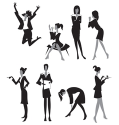 Women in office vector image