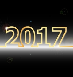 2017 happy new year on black background vector