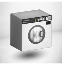 3d white washing mashine vector image