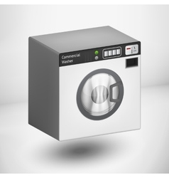 3d white washing mashine vector