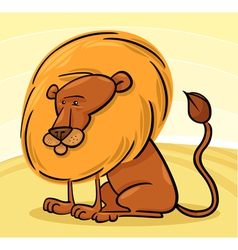 African Lion Cartoon vector