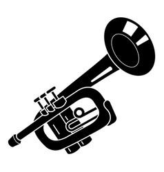 Alarm trumpet icon simple style vector