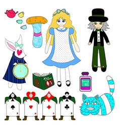 Alice in wonderland color vector