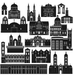 American architecture-5 vector