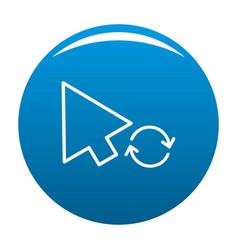 Arrow cursor loading icon blue vector