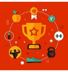 Award sports vector image