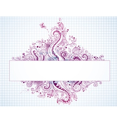 banner hand drawn vector image