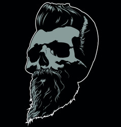 Barber skull image vector