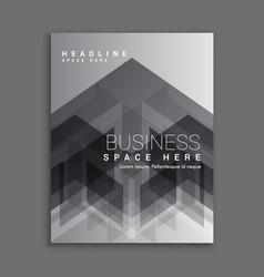 black abstract business magazine cover template vector image