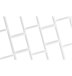Blank social media posts template vector