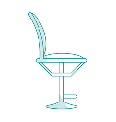 blue silhouette shading cartoon elegant dining vector image