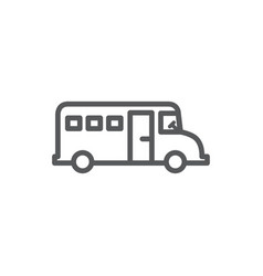 bus line icon on white background vector image