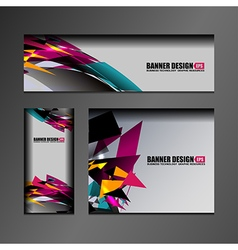 business banner design vector image
