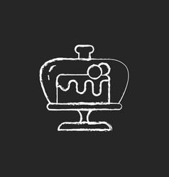 cake stand chalk white icon on dark background vector image