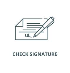 check signature line icon check signature vector image