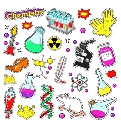 Chemistry Decorative Elements for Stickers vector image