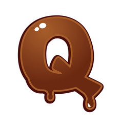 Chocolate melt font type vector