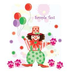 clown cartoon vector image vector image