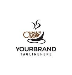 Coffee cup logo logo template icon design vector