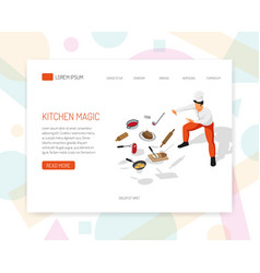 cook chef isometric design vector image