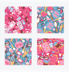 cosmetic seamless pattern beauty make up vector image