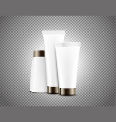 Cream tubes isolated on transparent background vector