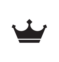 crown - black icon on white background vector image