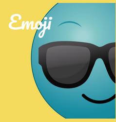 Cute round emoji cartoon vector
