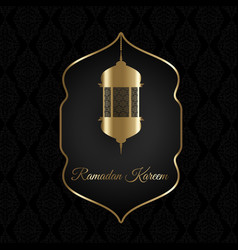 Decorative ramadan kareem background vector