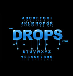 drops art water drop modern bold font vector image